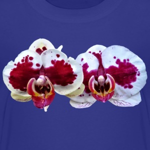 Maroon And White Phalaenopsis Orchids Side By Side Kids' Shirts - Kids' Premium T-Shirt