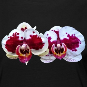 Maroon And White Phalaenopsis Orchids Side By Side Long Sleeve Shirts - Women's Premium Long Sleeve T-Shirt