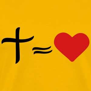 Love heart love cross mr jesus logo symbol design  T-Shirts - Men's Premium T-Shirt