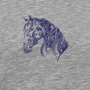 horse knight ride - Men's Premium T-Shirt