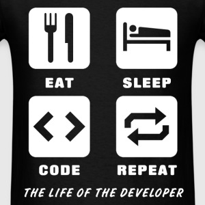 Developer - Eat. Sleep. Code. Repeat. The life of  - Men's T-Shirt