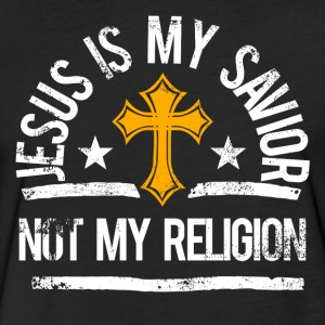 Jesus is my savior. Not my religion. - Fitted Cotton/Poly T-Shirt by Next Level