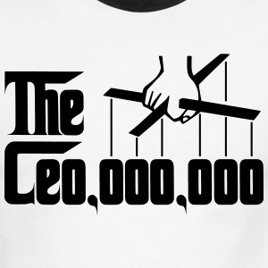 Ceo 000 000 Godfather Puppet Hand T-Shirts - Men's Ringer T-Shirt