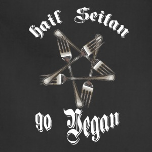 HAIL SEITAN GO VEGAN - Adjustable Apron