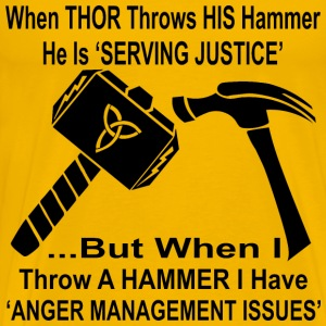 When Thor Throws His Hammer He Is Serving Justice  - Men's Premium T-Shirt