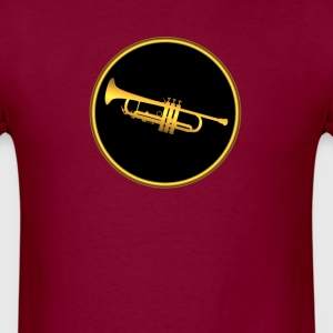 Trumpet Gold Sign - Men's T-Shirt