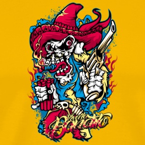 mexican_skull_with_gun - Men's Premium T-Shirt