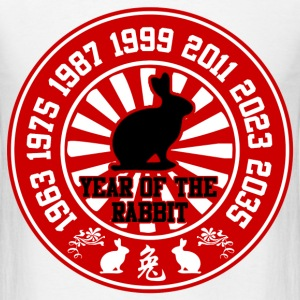 year of the rabbit 78327837284hhj34234.png T-Shirts - Men's T-Shirt