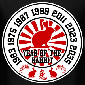 year of the rabbit 8982989848912414sda.png T-Shirts - Men's T-Shirt
