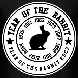 year of the rabbit 7483747384324.png T-Shirts - Men's T-Shirt