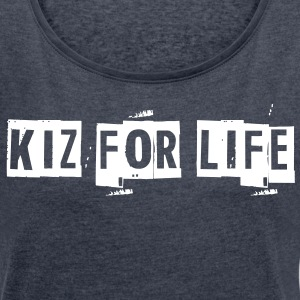 Kiz for Life Women's High Low Tee  - Women´s Roll Cuff T-Shirt