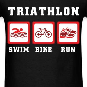 Triathlon - Triathlon Swim Bike Run - Men's T-Shirt