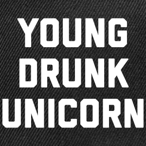Young Drunk Unicorn Funny Quote Sportswear - Snap-back Baseball Cap