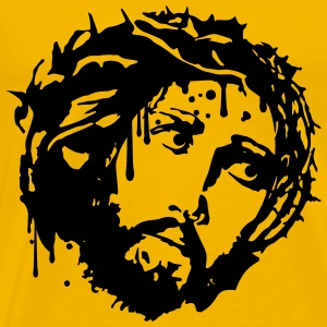 Jesus thorns crown blood dead death kill graffiti  T-Shirts - Men's Premium T-Shirt