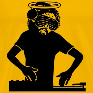 Jesus death dj party glasses headphones music danc T-Shirts - Men's Premium T-Shirt