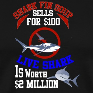 Sharks are worth more alive than dead. - Men's Premium T-Shirt