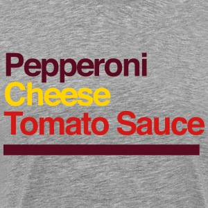 Pepperoni Pizza Ingredients T-Shirts - Men's Premium T-Shirt