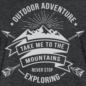 Take me to the mountains T-Shirts - Fitted Cotton/Poly T-Shirt by Next Level