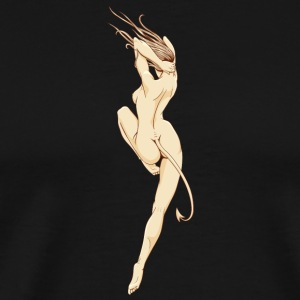sexy_naked_devil_girl - Men's Premium T-Shirt