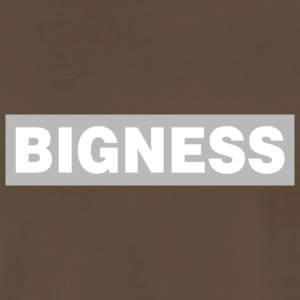 BIGNESS Grey - Men's Premium T-Shirt