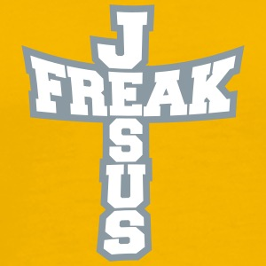 Gray form freak text lettering jesus cross life fa T-Shirts - Men's Premium T-Shirt