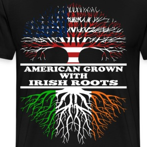 american grown irish root - Men's Premium T-Shirt