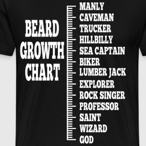 beard growth chart 1 - Men's Premium T-Shirt