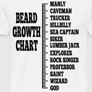 beard growth chart 2 - Men's Premium T-Shirt