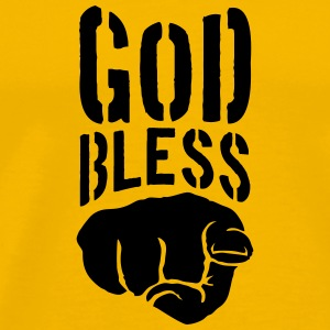 God bless you finger show hand funny god jesus log T-Shirts - Men's Premium T-Shirt