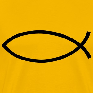 Fish jesus logo symbol design christian belief T-Shirts - Men's Premium T-Shirt