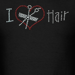 I Love Hair Rhinestone - Men's T-Shirt