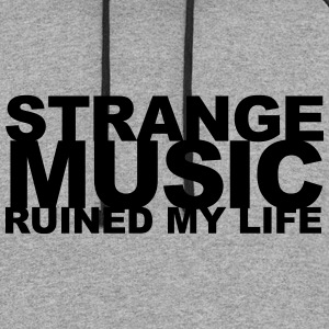 strange music ruined my life - Colorblock Hoodie