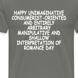 anti_valentines_message_ - Men's Premium T-Shirt