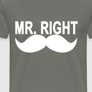 mr_right_mustache_ - Men's Premium T-Shirt