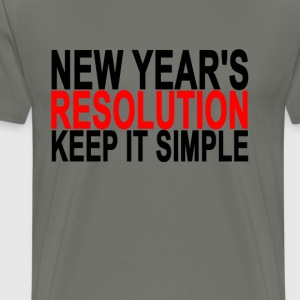 new_years_resolution_keep_it_simple_ - Men's Premium T-Shirt