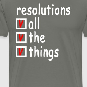 all_the_resolutions_ - Men's Premium T-Shirt