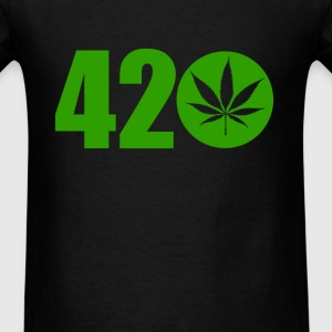 420 Ganja Weed Pot Leaf Graphic Green Hash Holiday T-Shirts - Men's T-Shirt