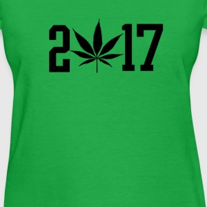 2017 black pot leaf green weed  T-Shirts - Women's T-Shirt