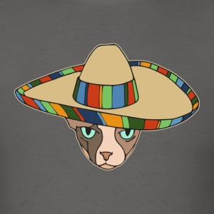Sphynx cat in a Sombrero T-Shirts - Men's T-Shirt