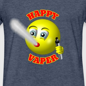 HAPPY VAPER - Fitted Cotton/Poly T-Shirt by Next Level