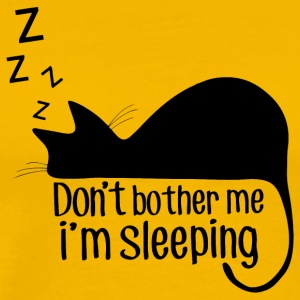 Sleeping cat - do not disturb! - Men's Premium T-Shirt