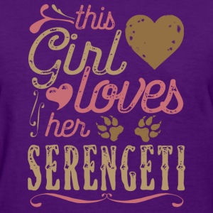 This Girl Loves Her Serengeti Cat T-Shirts - Women's T-Shirt