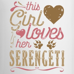 This Girl Loves Her Serengeti Cat Mugs & Drinkware - Coffee/Tea Mug