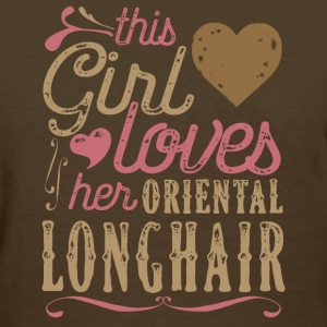 This Girl Loves Her Oriental Longhair Cat T-Shirts - Women's T-Shirt