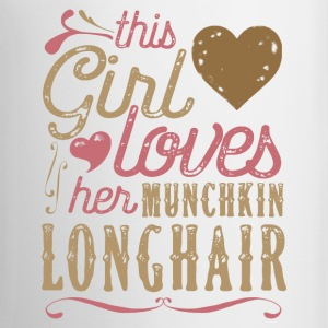 This Girl Loves Her Munchkin Longhair Cat Mugs & Drinkware - Coffee/Tea Mug