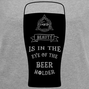 Beauty Is In The Eye Of The BEER Holder T-Shirts - Women´s Rolled Sleeve Boxy T-Shirt