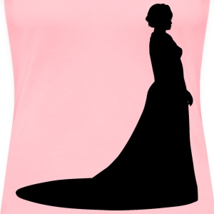 Woman in ballgown - Women's Premium T-Shirt