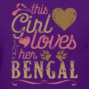 This Girl Loves Her Bengal Cat T-Shirts - Women's T-Shirt