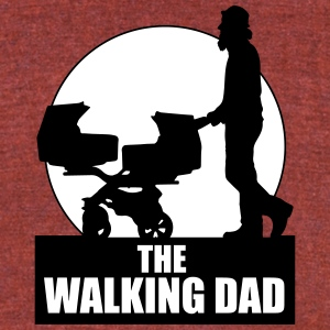 THE WALKING DAD - TWO - TWINNS T-Shirts - Unisex Tri-Blend T-Shirt by American Apparel