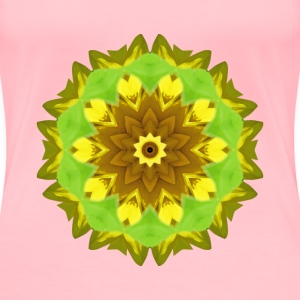Sunflower kaleidoscope 6 - Women's Premium T-Shirt